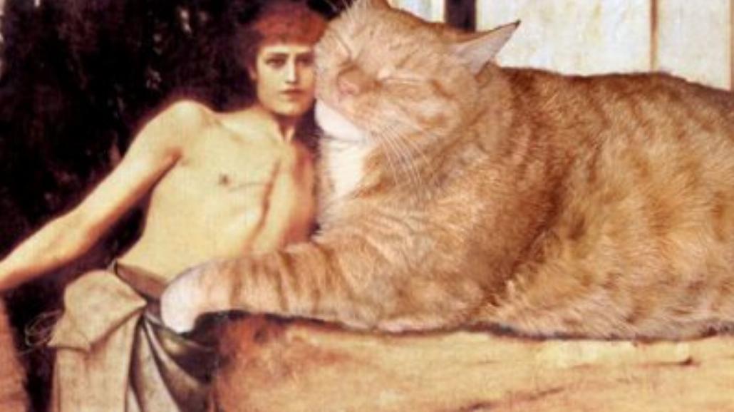 Gruby, rudy kot na słynnych obrazach