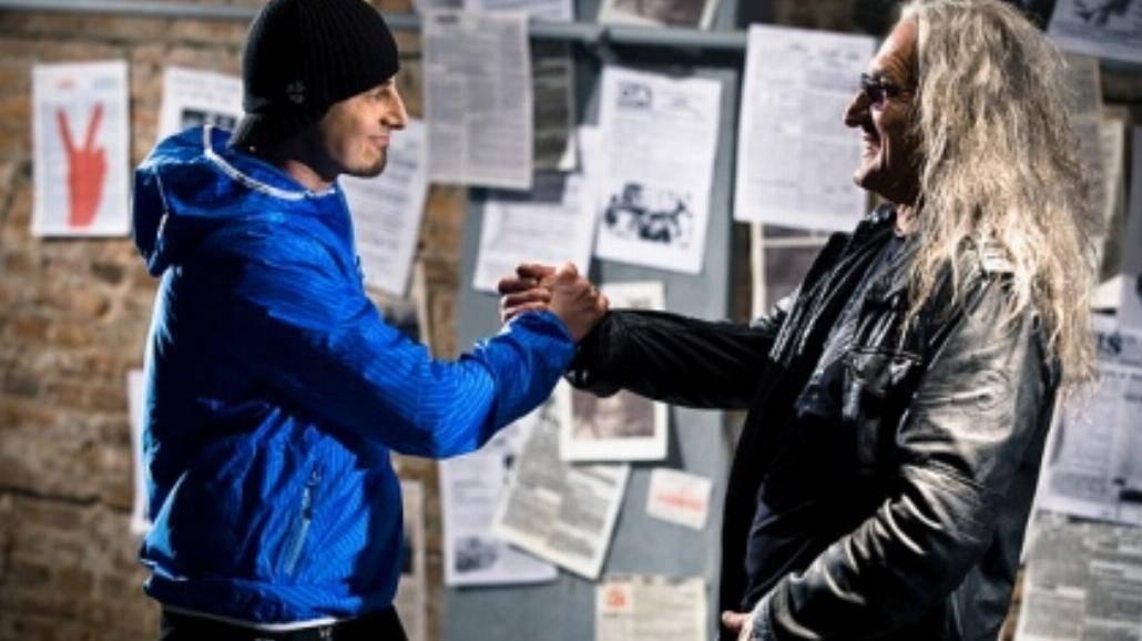 Abradab i Grzegorz Markowski na planie klipu