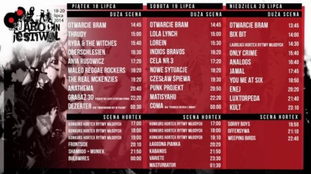 W weekend startuje Jarocin Festiwal [LINE-UP, BILETY]