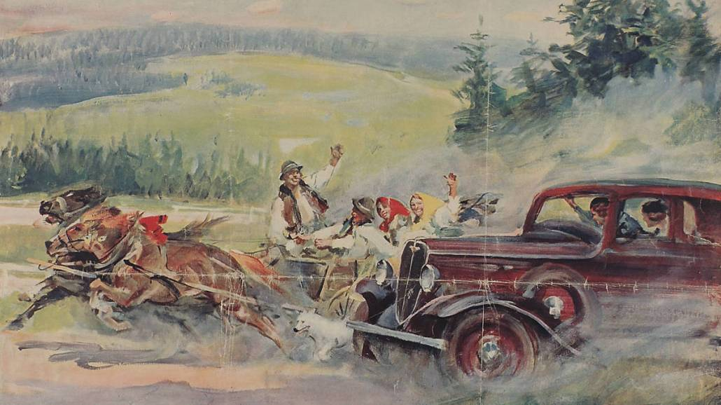 plakat Polski Fiat 1934
