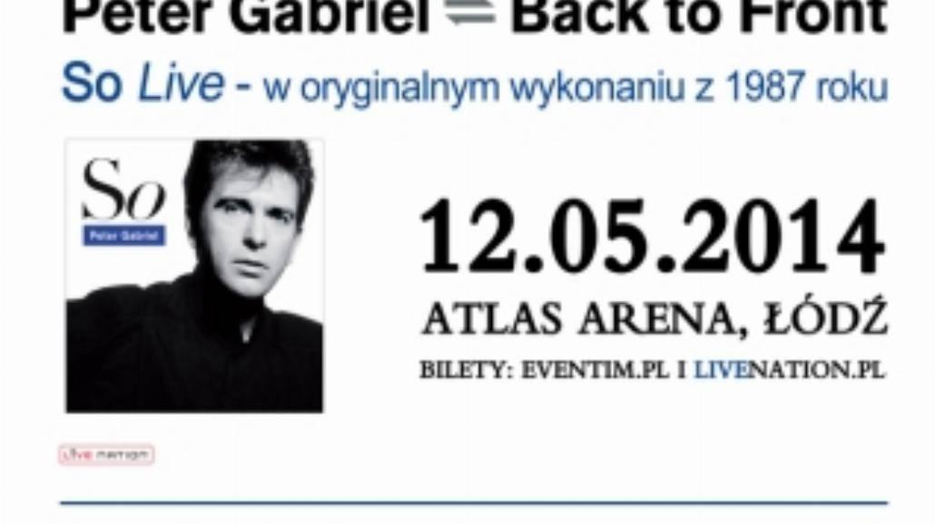 Peter Gabriel ponownie w Polsce