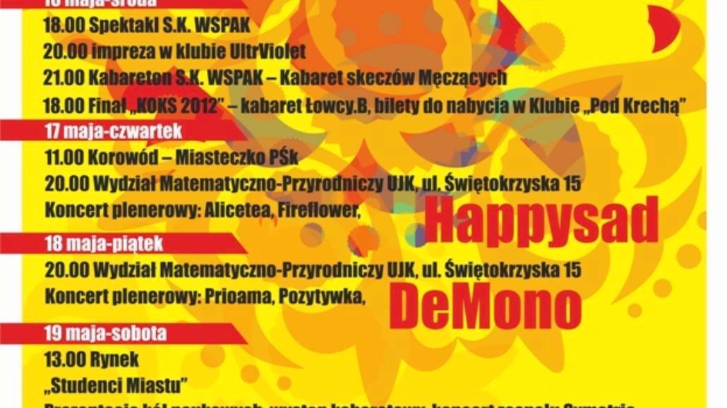 Juwenalia 2012 w Kielcach [PROGRAM]