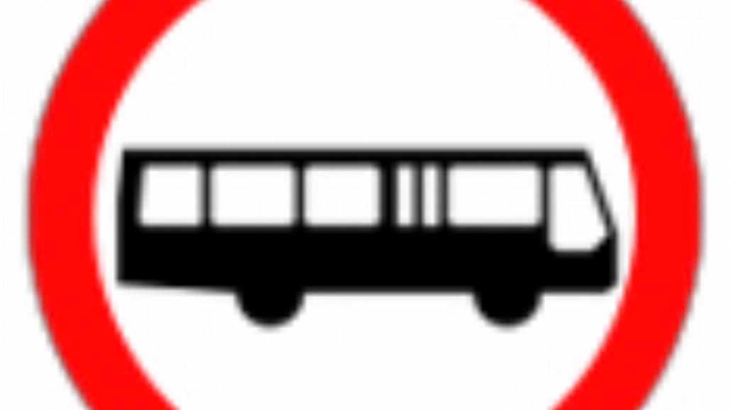 """B-3a """"zakaz wjazdu autobusów"""""""