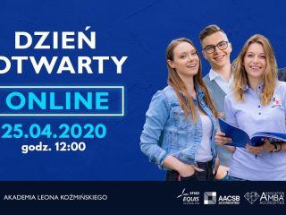 Dzień Otwarty ONLINE w Akademii Leona Koźmińskiego [Kwiecień 2020] - Drzwi Otwarte, ALK, Facebook, Program, Transmisja, Relacja live, kwiecień 2020