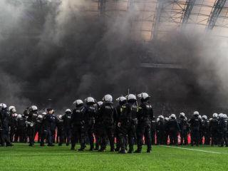 Mistrzostwo Legii w cieniu poznańskiej zadymy [FOTO] - 20.05, 20 maja, 2018, Lech Poznań, Legia Warszawa, zdjęcia, mecz