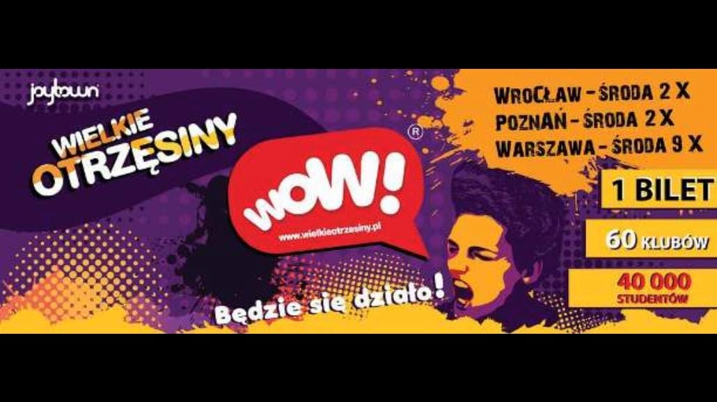 WOW! Wielkie Otrzęsiny Warszawy zatrzęsą miastem!
