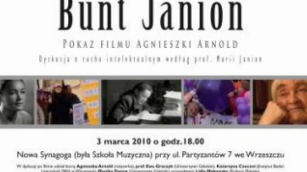 """Gdańska premiera """"Buntu Janion"""""""