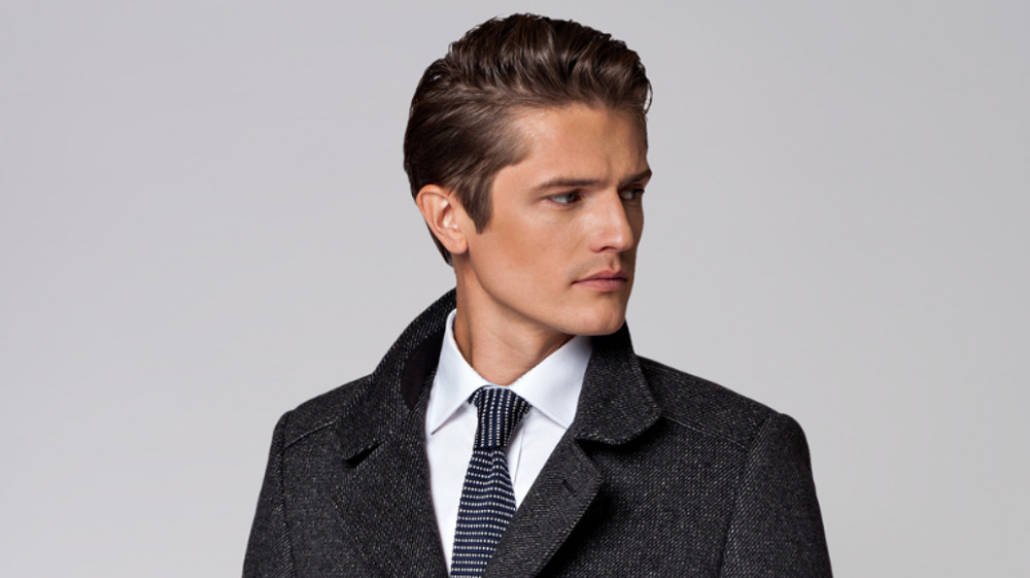 klasyczny męski płaszcz