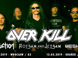 Overkill wystąpi na dwóch koncertach w Polsce - koncert, koncerty 2019, metal, A2, B90, Wrocław, Gdańsk