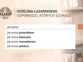 Rekrutacja na Uczelni Łazarskiego w Warszawie 2019/20 - Nowe kierunki, Zapisy, Oferta,  Najlepsze studia, Rejestracja na studia, Rankingi, Certyfikaty