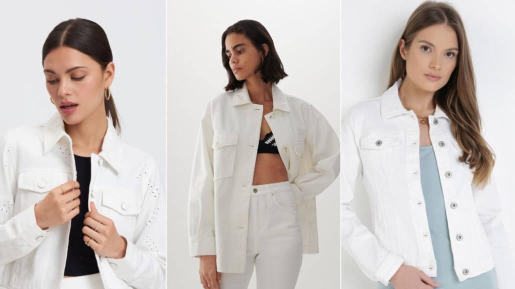 Biała kurtka jeansowa