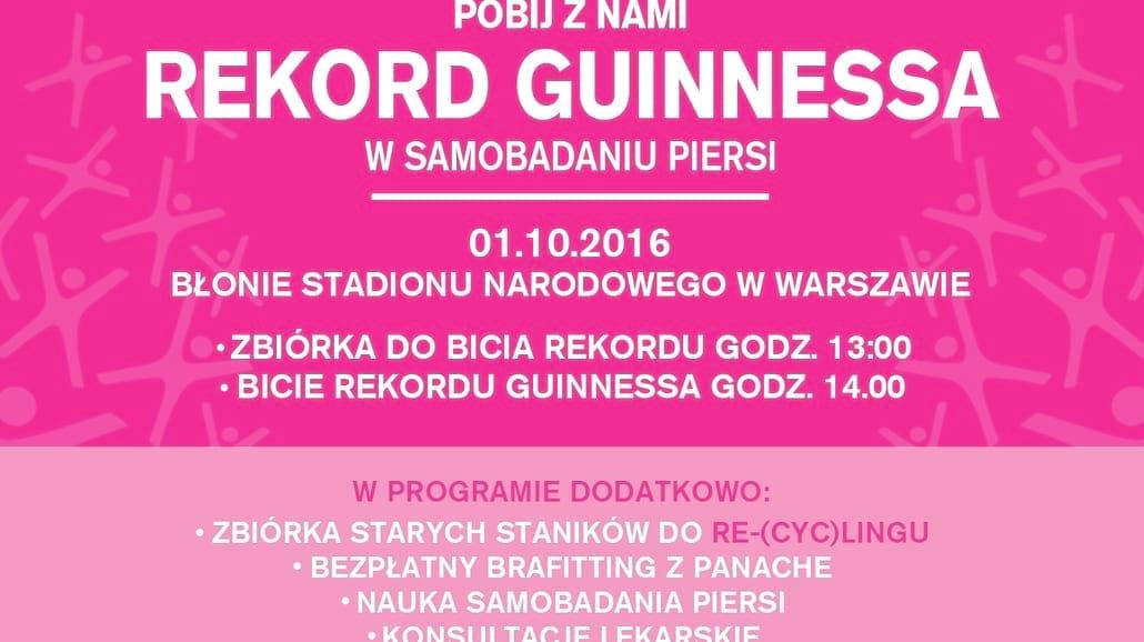 Dotykaj = Wygrywaj i pobij Rekord Guinessa w samobadaniu piersi [WIDEO]
