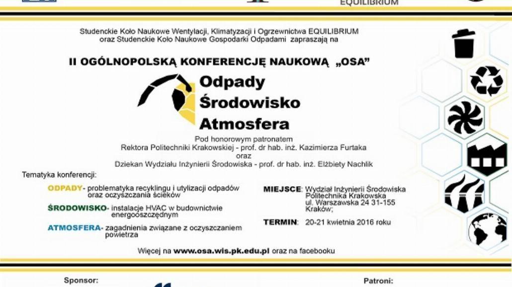 II Ogólnopolska Konferencja Naukowa OSA