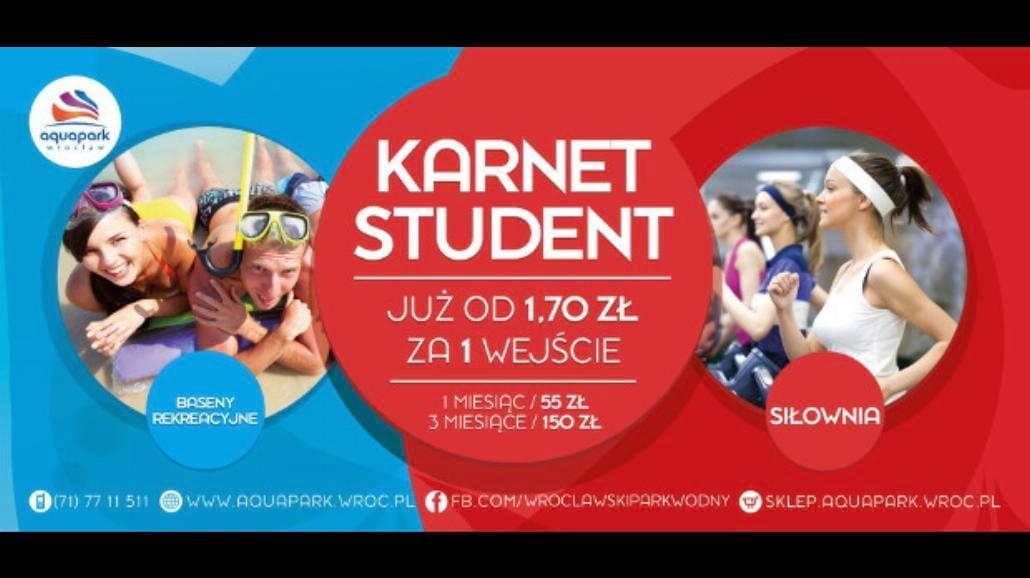 Nowa oferta studencka we wrocławskim Aquaparku!