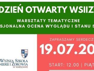 Dni otwarte w warszawskiej Wyższej Szkole Inżynierii i Zdrowia - Warsztaty, Kierunki, Dermatologia, Badania Skóry, Informacje, Harmonogram