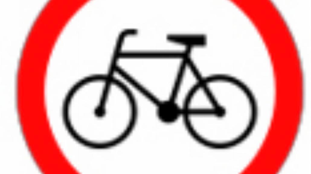 """B-9 """"zakaz wjazdu rowerów"""""""