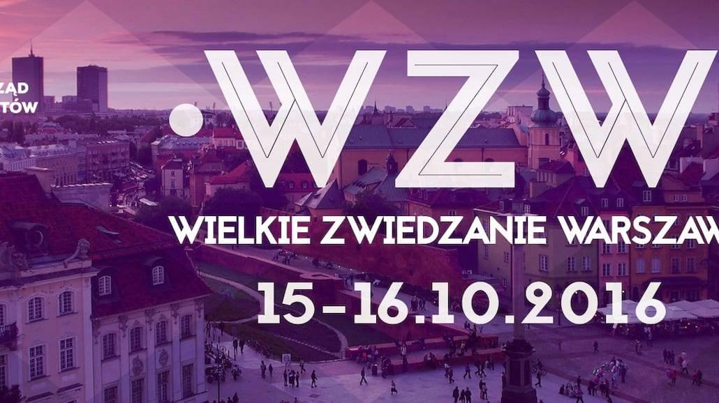 Wielkie Zwiedzanie Warszawy już 15-16 października!