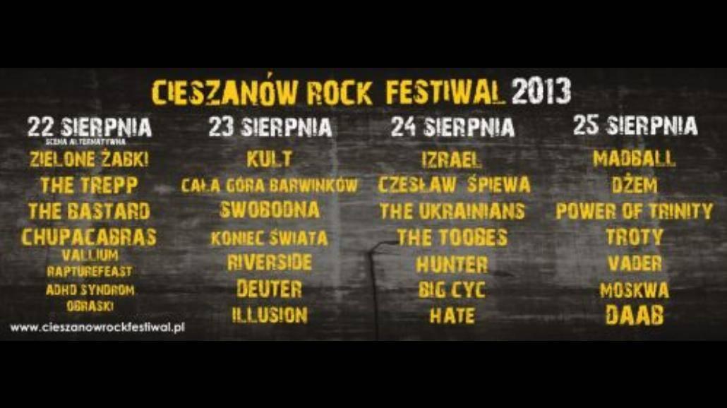 Gwiazdy na festiwalu w Cieszanowie