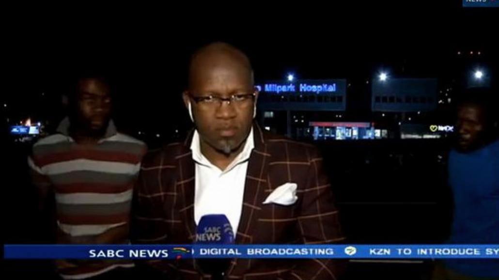 Dziennikarz obrabowany podczas relacji na żywo