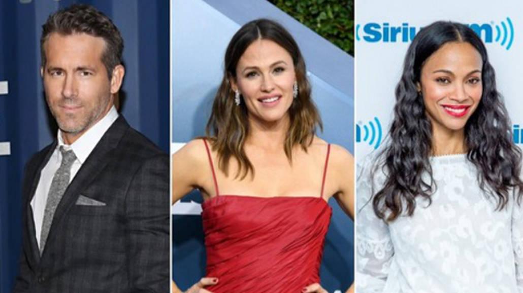 Ryan Reynolds, Jennifer Garner, Zoe Saldana
