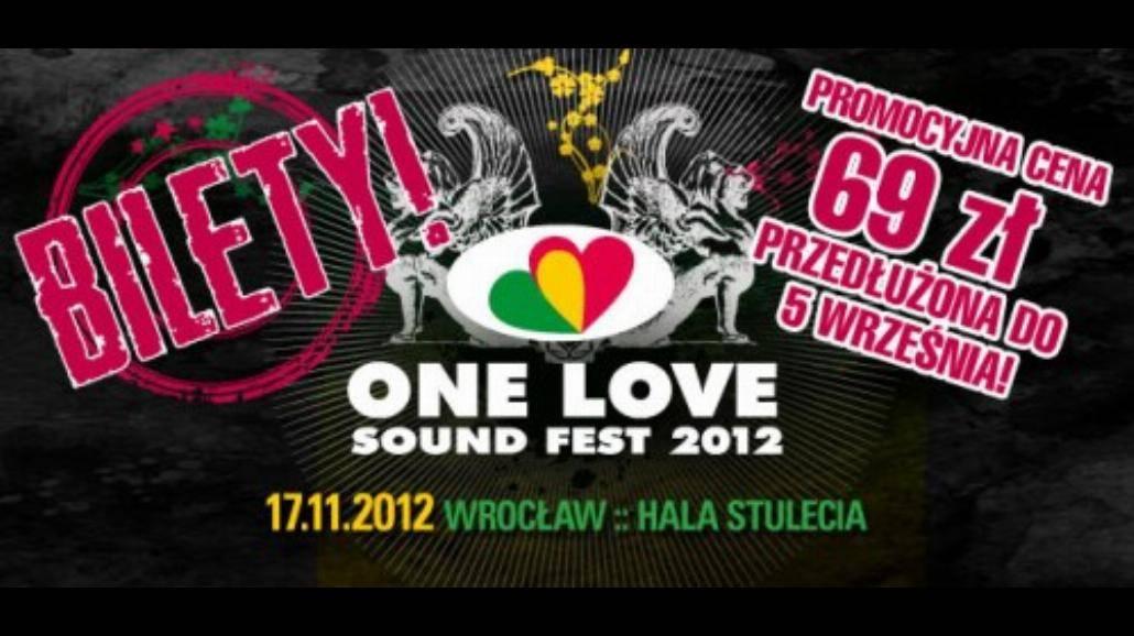Promocyjne bilety na One Love Sound Fest tylko do 5 września!