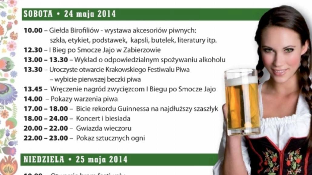 Święto piwa startuje w Krakowie
