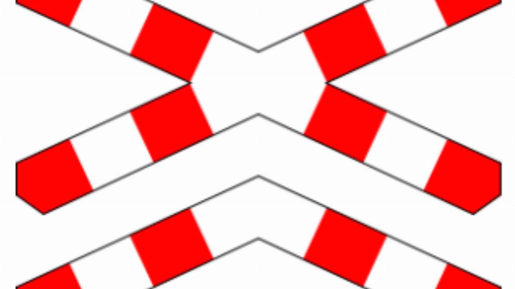 """G-4 """"krzyż św. Andrzeja przed przejazdem kolejowym wielotorowym"""""""