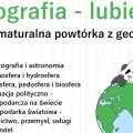 """Projekt """"Geografia - lubię to"""" wystartuje 1 marca! - zajęcia, konkursy, zadania, matura, egzamin"""