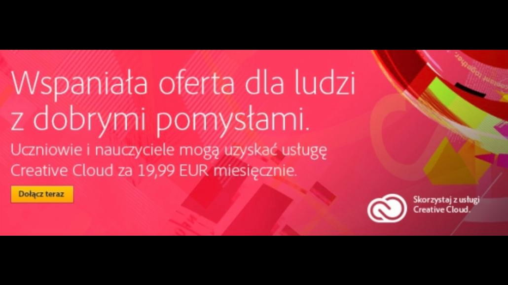 Adobe Creative Cloud na studencką kieszeń