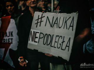 Demonstracja wrocławskich studentów przeciwko ustawie 2.0 [FOTO] - protest, konstytucja dla nauki, reforma, jarosław Gowin