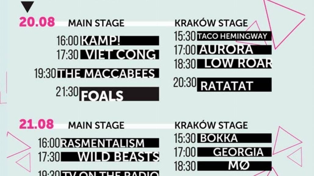 Kraków Live Festival 2015 wystartował! Zobacz rozpiskę godzinową [WIDEO]