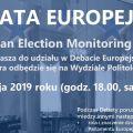 Debata Europejska na UMCS w ramach projektu Project Platform Europe - Parlament Europejski, Wybory, Debata, Rola Obywatela, Problemy Europy, 2019