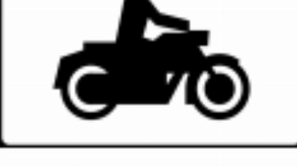 """T-23a """"tabliczka wskazująca motocykle"""""""