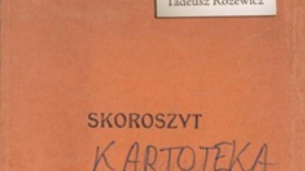 """Rękopis """"Kartoteki"""" Różewicza wkrótce w księgarni"""