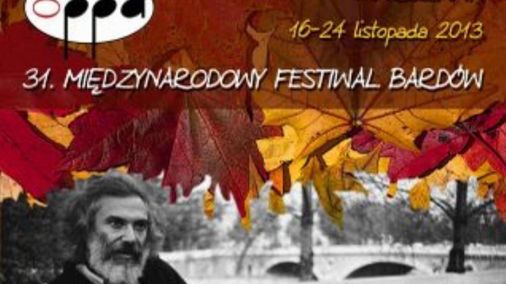 31. Międzynarodowy Festiwal Bardów w listopadzie