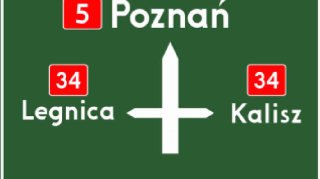 """E-1 """"tablica przeddrogowskazowa"""""""
