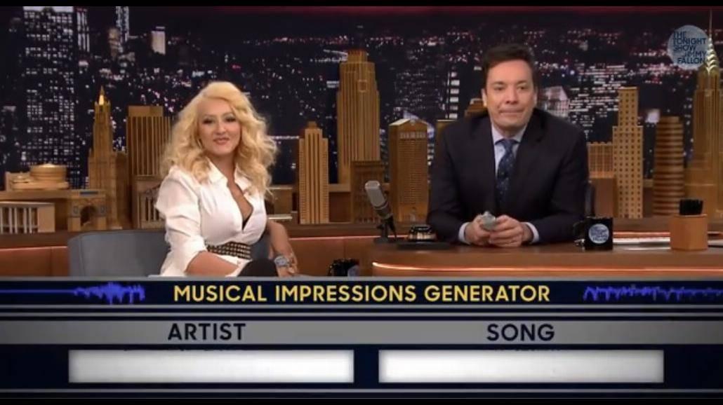 Christina Aguilera naśladuje popularne gwiazdy! [WIDEO]