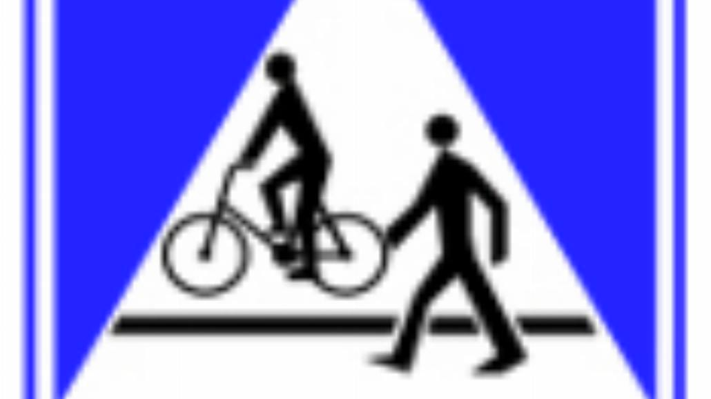 """D-6b """"przejście dla pieszych i przejazd dla rowerzystów"""""""