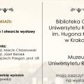 Wernisaż wystawy poświęconej kolekcji Muzeum Uniwersytetu Rolniczego - wydarzenie, czytelnia, zwiedzanie, wykład, wystąpienia