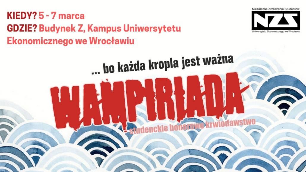 Wampiriada odbędzie się w dniach 5-7 marca 2019 roku.