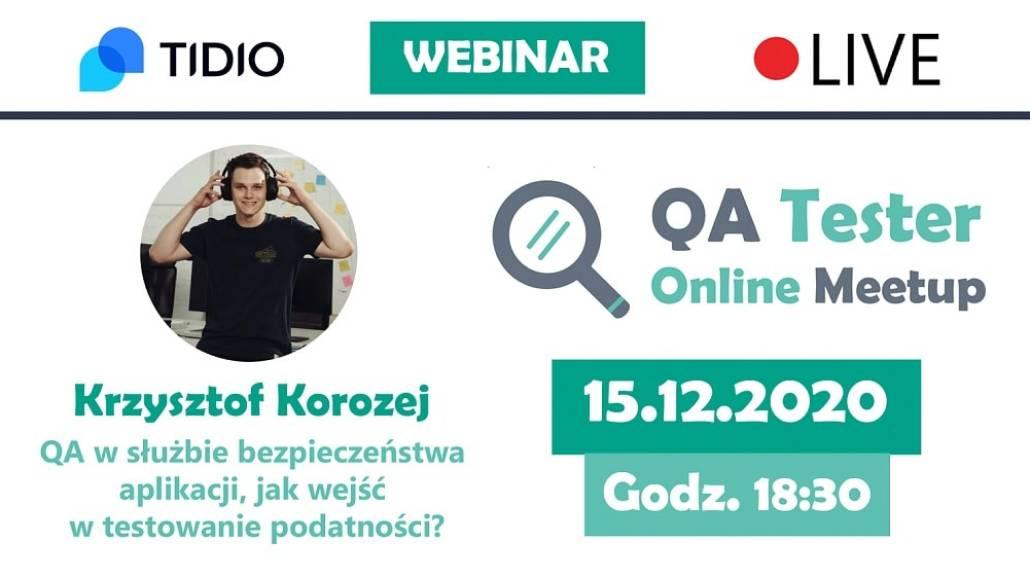 QA Tester Online Meetup #3