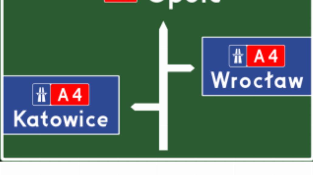 """E-1b """"tablica przeddrogowskazowa przed wjazdem na"""