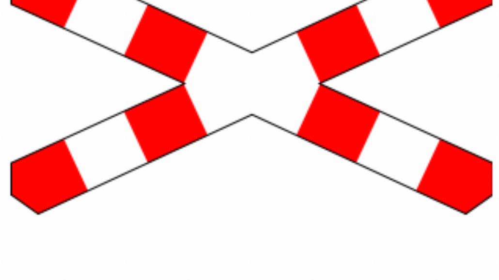 """G-3 """"krzyż św. Andrzeja przed przejazdem kolejowym jednotorowym"""""""