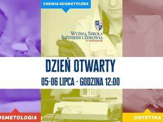 Dzień Otwarty w Wyższej Szkole Inżynierii i Zdrowia w Warszawie - 2019/2020, Lipiec, Informacje, Plan, Harmonogram, Oferta edukacyjna