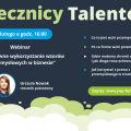 """Już niebawem kolejny webinar w ramach projektu Rzecznicy Talentów - """"Efektywne wykorzystanie wzorów przemysłowych w biznesie""""., Rzecznicy Talentów"""