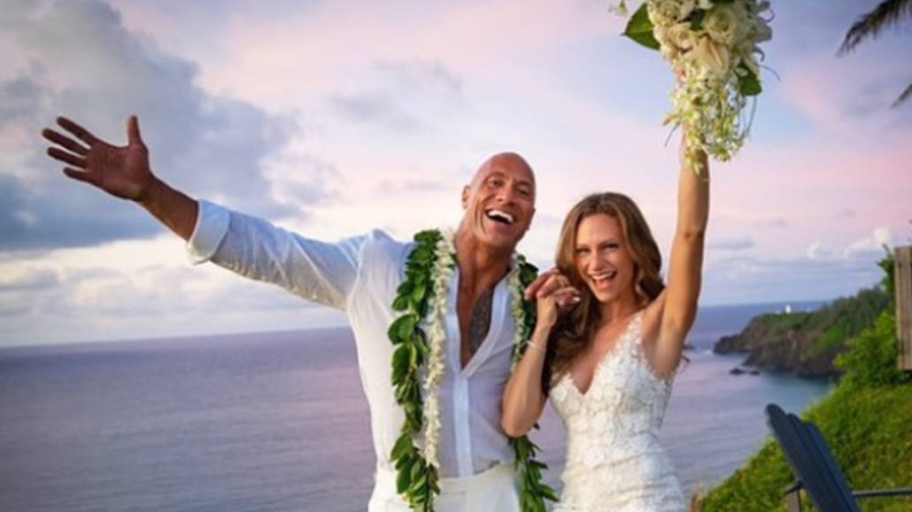 Dwayne Johnson i Lauren Hashian