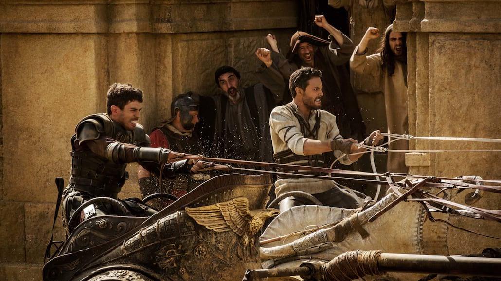 """""""Ben-Hur"""" - pełen realizm w kręceniu wyścigu rydwanów [WIDEO]"""