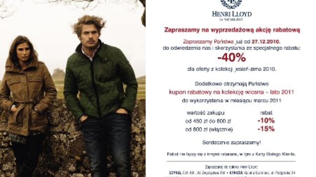 Wielka promocja w Henri Lloyd