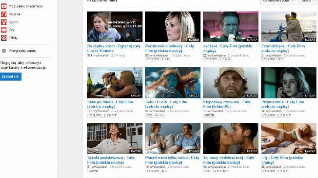 Kino udostępnia legalne filmy na YouTube