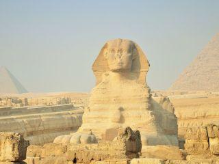 Na południu Egiptu znaleziono posąg sfinksa - świątynia Kom-Ombo, egipscy archeolodzy, zabytki, piaskowiec